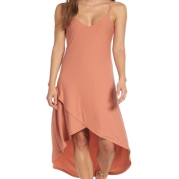 e32a51d557 Love Fire Strappy High Low Dress Coral NWT Size L